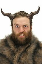 Beast Horns Black Lightweight Soft Foam Adjustable Fantasy Costume Prosthetic
