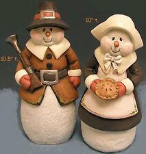 Ceramic Bisque Ready to Paint Pilgrim Snow Couple