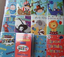 Pack of Male Boy Juvenile Young Kids 12 Birthday Cards Greetings Card For Him #1