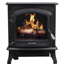 Infrared Quartz Electric Fireplace Heater Flame Logs Stove 1500w Standing