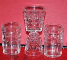 3 Heisey RARE FIND  SHOT GLASSES CRYSTAL ELEGANT DEPRESSION ERA ...