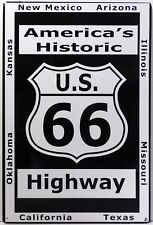 America's Historic Route 66 Highway Metal Sign