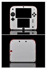 White Carbon Fiber Vinyl Decal Skin Sticker Case for Nintendo 2DS