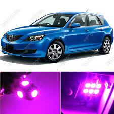 8 x Premium Hot Pink LED Lights Interior Package Kit for 2004-2009 Mazda 3