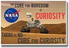 Mars Rover The Cure For Boredom Is Curiosity NEW CLASSROOM SCIENCE SPACE POSTER