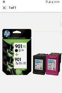 HP 901 XL Black + HP 901 XL Colour Cartridges Ink - Genuine - brand new