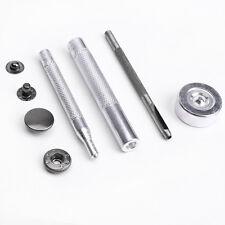 50pcs 15mm Botón de Presión Metal Corchete Metalico + Herramienta para DIY