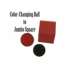 COLOR CHANGING BALL TO JUMBO SQUARE BY GOSH MAGIC SPONGE TRICKS TOY BALLS STAGE