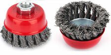 "75 mm/3 ""twist knot rotary steel wire cup brush M14"
