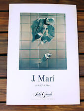 Original J. Mari Art Exhibition Poster Sala Gaudi Barcelona Spain Gallery Poster