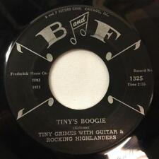 TINY GRIMES & ROCKING HIGHLANDERS 45:Blues Round Up /Boogie,B and F Records 1325