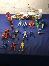 Lot Of Power Rangers Bandai figures & White Mystic Force Dragon, Red Bike & More