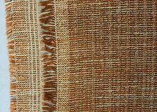 """Vintage Mcm Harlequin Upholstery Fabric """"Anodize"""" Brick Textured Tweed 3 yds"""