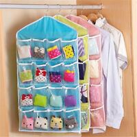 16 Pockets Organiser Hanging Wall Door Storage Bag Tidy Rack Space Saver Pouch