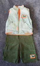 Boys size 00 set EUC cord pants and warm vest Tuff Trucks Target