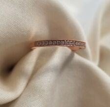 Ladies Brand New 14k Rose Gold diamond wedding band size 6.5