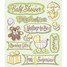 K&COMPANY STICKER MEDLEY BABY SHOWER PREGNANCY DIMENSIONAL 3D SCRAPBOOK STICKERS