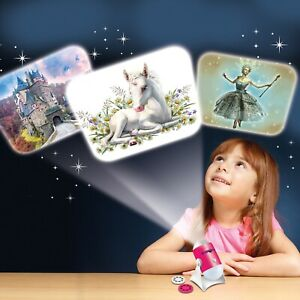 Fairy Tale Projector and Night Light - story book, mini, bedtime, unicorn, princ