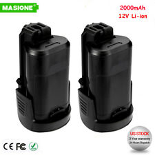 2x Li-Ion Battery For Dremel 12V Max B812-02 8300 8220 8200 2.0Ah Cordless Tool