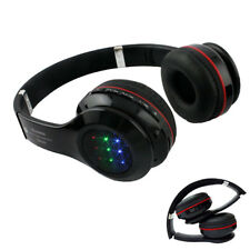 Bluetooth LED Light Up Headphone Stereo Wireless TF Card Radio Foldable Music