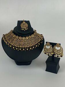 New Traditional Pakistani Indian Bollywood Wedding Asian Necklace Jewellery Set