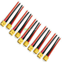 5 x PAIRS Of RC XT60 Lipo Battery Connector + 10cm Wire Male Female Plane Boat