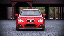 schwarze cup Spoilerlippe für Seat Leon MK2 1P  Frontspoiler Spoiler Diffusor