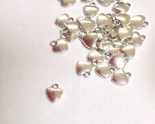 Heart Charms. Tibetan Silver. 12x10mm . Pack Of 20. U.K. Seller