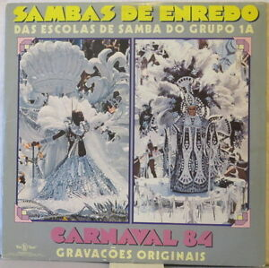 SAMBAS DE ENREDO Das Escolas de Samba do Grupo 1A LP Carnaval 84 w/ Insert