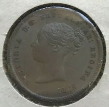 1844 Great Britain 1/2 Half Farthing - Great Condition