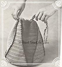 1960s Vintage Crochet Pattern Boho Pouch Drawstring Bag Festival Pouch