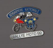 Pin's police / gendarmerie nationale, rallye moto 92 - zamac signé ballard