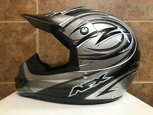 AFX FX-9 Gray Ultra Adult Off-Road ATV Helmet Small:7-7 1/8 Hat Size 22-22 7/16