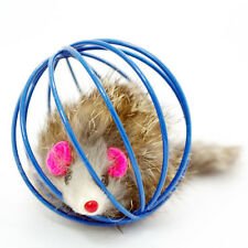 1PC Fun Gift Cat Playing Toys False Mouse in Rat Cage Ball For Pet Cat Kitten