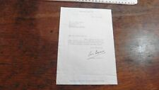 1972 SIGNED LETTER FROM GEORGES SIMENON MAIGRET AUTHOR SAYING HE HAS NOT RETIRED