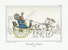 CARRICK A POMPE CABRIOLET - Litografia Originale 1800 L. Caplain