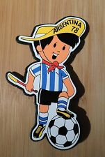 GAUCHITO Argentina 1978 MASCOT FIFA WORLD CUP Soccer Football for Car Window