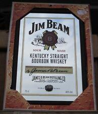 Mirror Jim Beam Red whiskey Seal pub/bar, mancave, home decoration