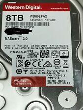 """Hard Disk Drive Western Digital 8TB WD Red 3.5"""" SATA NAS WD80EFAX Disco Rigido"""