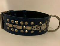 """REAL LEATHER-STAFFY/STAFFIE/STAFFORDSHIRE- DOG COLLAR 2"""" WIDE"""