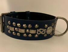 "REAL LEATHER-STAFFY/STAFFIE/STAFFORDSHIRE- DOG COLLAR 2"" WIDE"