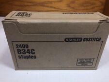 Stanley Bostitch B34C Staples 4 BOXES, 2400/Box, (9,600 total), New in the Box