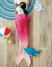 Pillowfort Mermaid Tail Wearable Plush Blanket - Pink