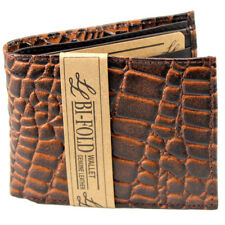 Mens Bifold Genuine Leather Wallet Crocodile Credit Card Id Window Holder Purse