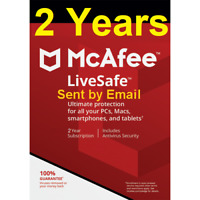 2 Years Mcafee LiveSafe 2020 Unlimited Devices 2019 Renewal