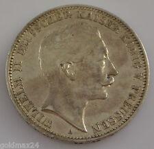 3 Mark Silbermünze dt. Kaiserreich 1909 A - Wilhelm II. dt. Kaiser Preussen