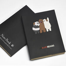 We Bare Bears Three Bears Cute Student Notebook Notepad Diary Notebook