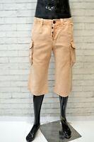 JUST CAVALLI Bermuda in Lino Uomo Taglia 46 Pants Pantalone Corto Shorts Cotone