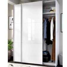 Armario 2 Puertas Correderas 204x150x65cm - Blanco Brillo