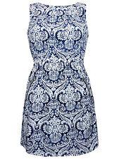 Tutti Frutti BLUE BAROQUE Zip Pocket Printed Shift Dress - Size 8/10 to 20/22